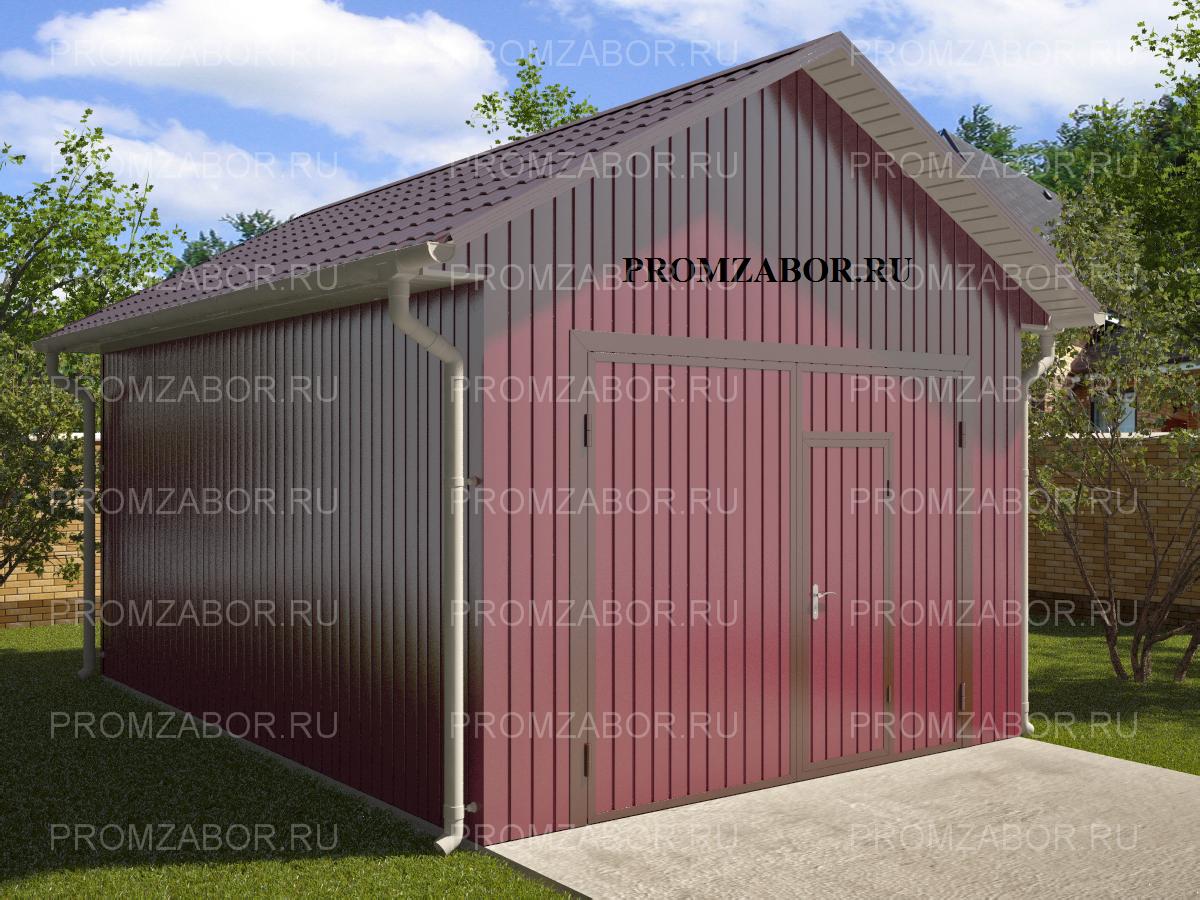 Купить сборно-разборный гараж из профнастила