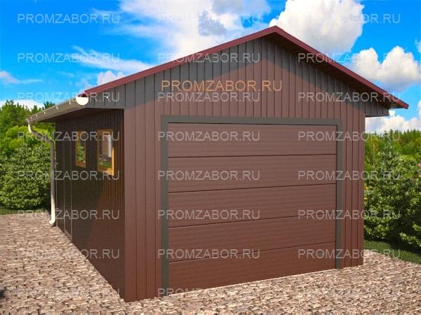 Быстровозводимые гаражи из сэндвич панелей строительство
